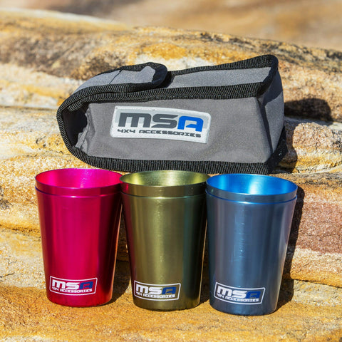 Travel Cup Set of 6  Accessories MSA 4X4- Adventure Imports