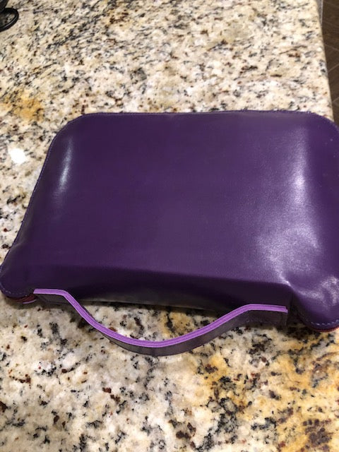 Purple Leather Bible Carrying Case