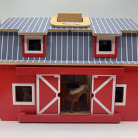 Melissa & Doug Wooden Fold And Go Barn w/Animals