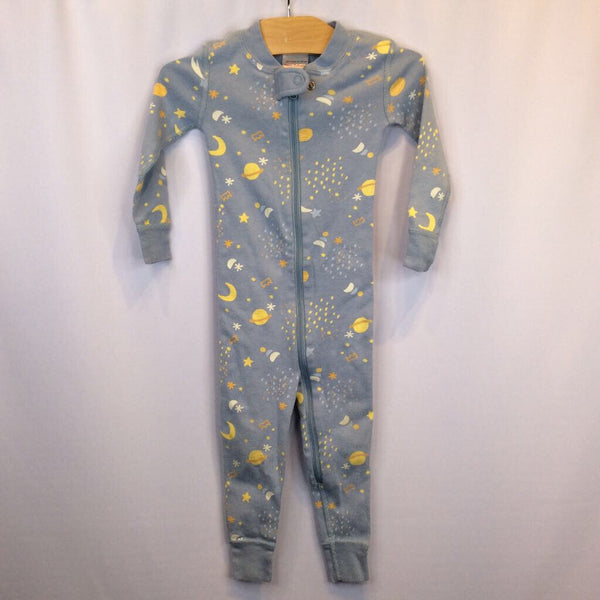 Size 18-24m: Hanna Andersson 1pc Blue W/Stars & Moons Pjs