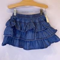 Size 5-6: hanna Andersson Blue Chambray Layered Skort