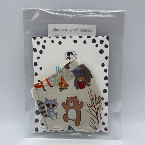 Kollodiworks Locally Made Children's Fitted Face Mask - Forest Animal Party