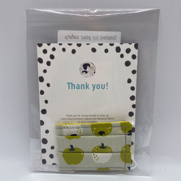 Kollodiworks Locally Made Children's Comfort Face Mask - Green Apples