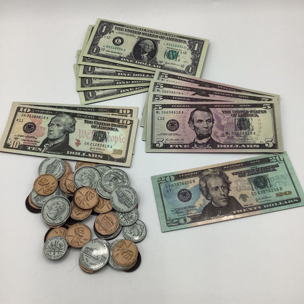 Bag of Magnetic Toy Money