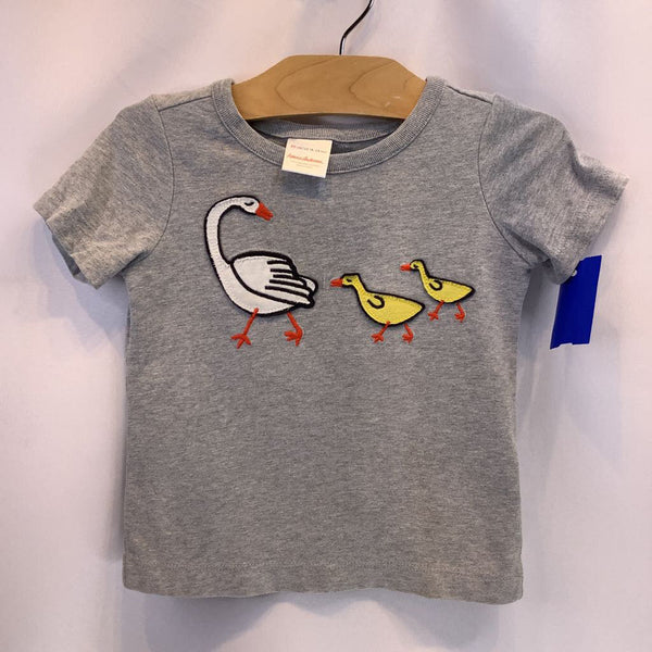 Size 18-24m: Hanna Anderson Grey Heathered w/Ducks T-Shirt