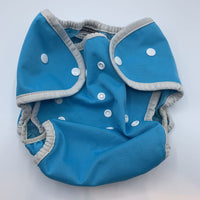 Thirsties Blue Adjustable Snap-Up Diaper Cover 9-36m