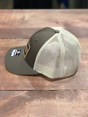 Dark Waters Leather Fly Patch Hat