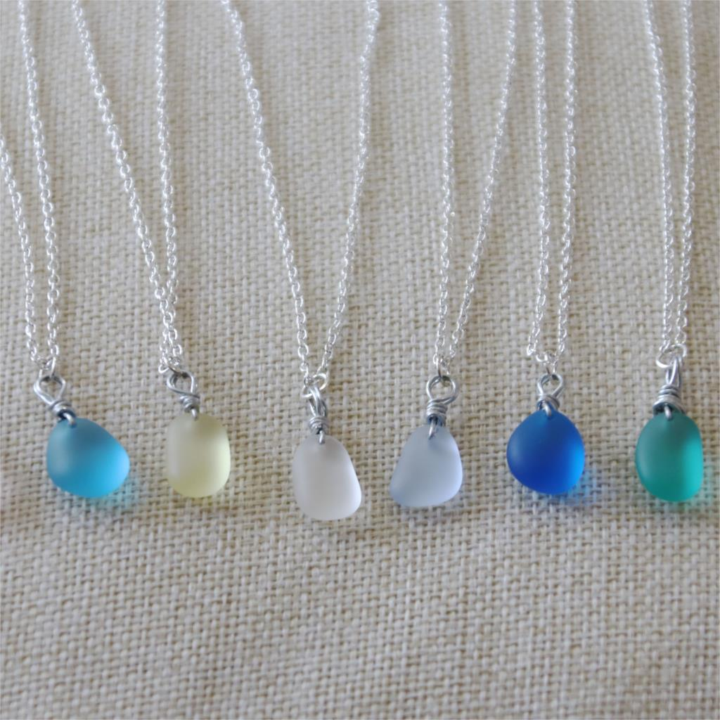 Best Unique Simple Sea Glass Necklace For Women Online 2021