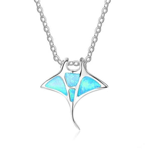 Opal StingRay Pendant Necklace