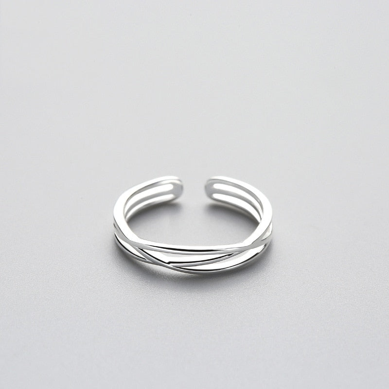 High Quality Adjustable Geometric Twist Ring For Girls Online 2021