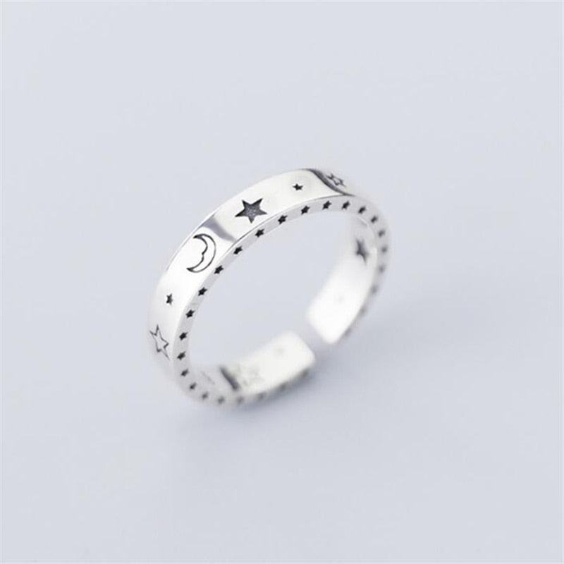 Best stylish Adjustable Moon & Stars Ring For Women Online 2021