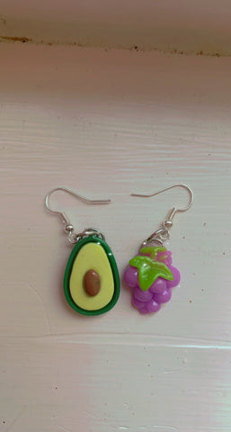 🍇 and 🥑 Earrings