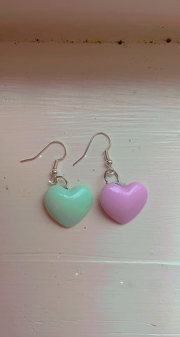 Heart 💜💙Earrings