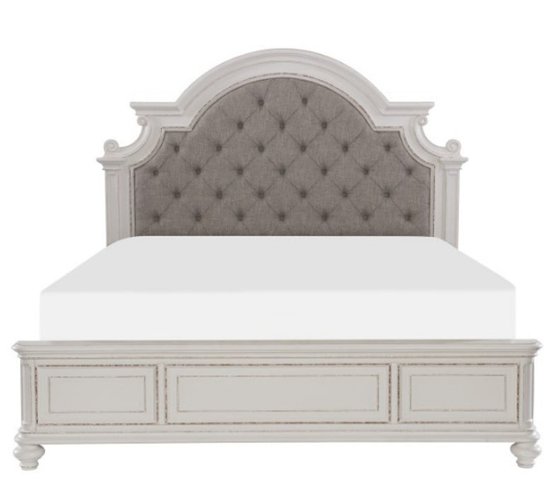 Homelegance Baylesford Queen Upholstered Panel Bed in Antique White 1624W-1* image
