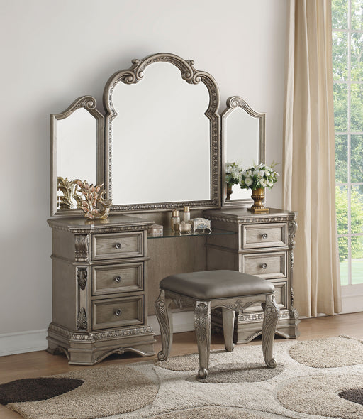 Northville Antique Silver Vanity Desk image