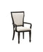 Lorenzo Fabric & Espresso Arm Chair image