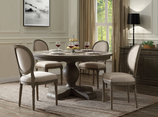 Ruby Rustic Gray Oak Dining Table image