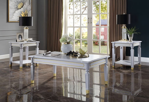 Acme Furniture House Marchese Coffee Table in Pearl Gray 88865 image