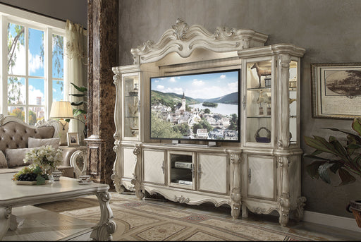 Versailles Bone White Entertainment Center (Side Piers & Bridge) image