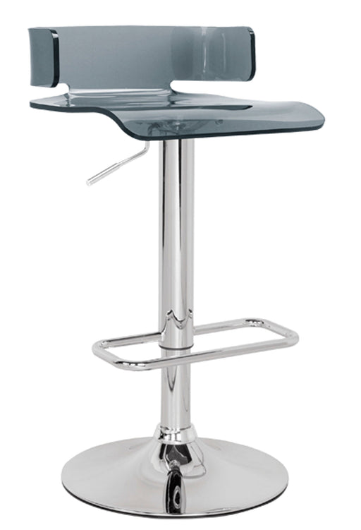 Rania Gray & Chrome Adjustable Stool (1Pc) image