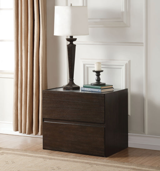 Wellins Dark Gray & Espresso Accent Table image