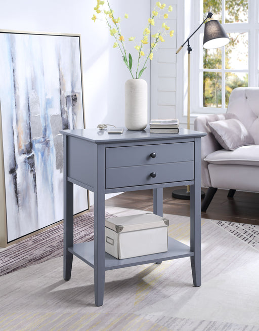 Grardor Gray Side Table (USB Charging Dock) image