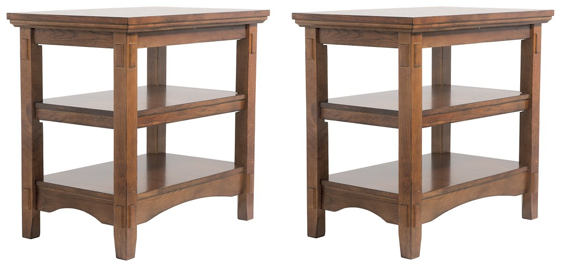 Cross Island Signature Design Chair Side 2-Piece End Table Set image