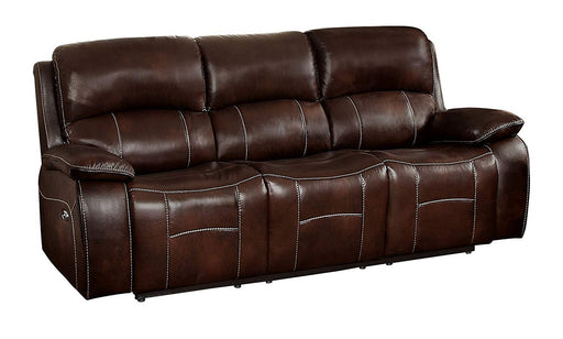 Homelegance Furniture Mahala Double Reclining Sofa in Brown 8200BRW-3PW image