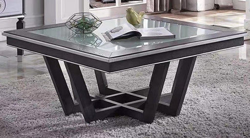 Acme Furniture House Beatrice Square Coffee Table in Charcoal 88810 image