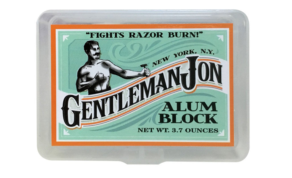 Gentleman Jon Alum Block; 3.70 oz. - Gentleman Jon Shave Co. - 2