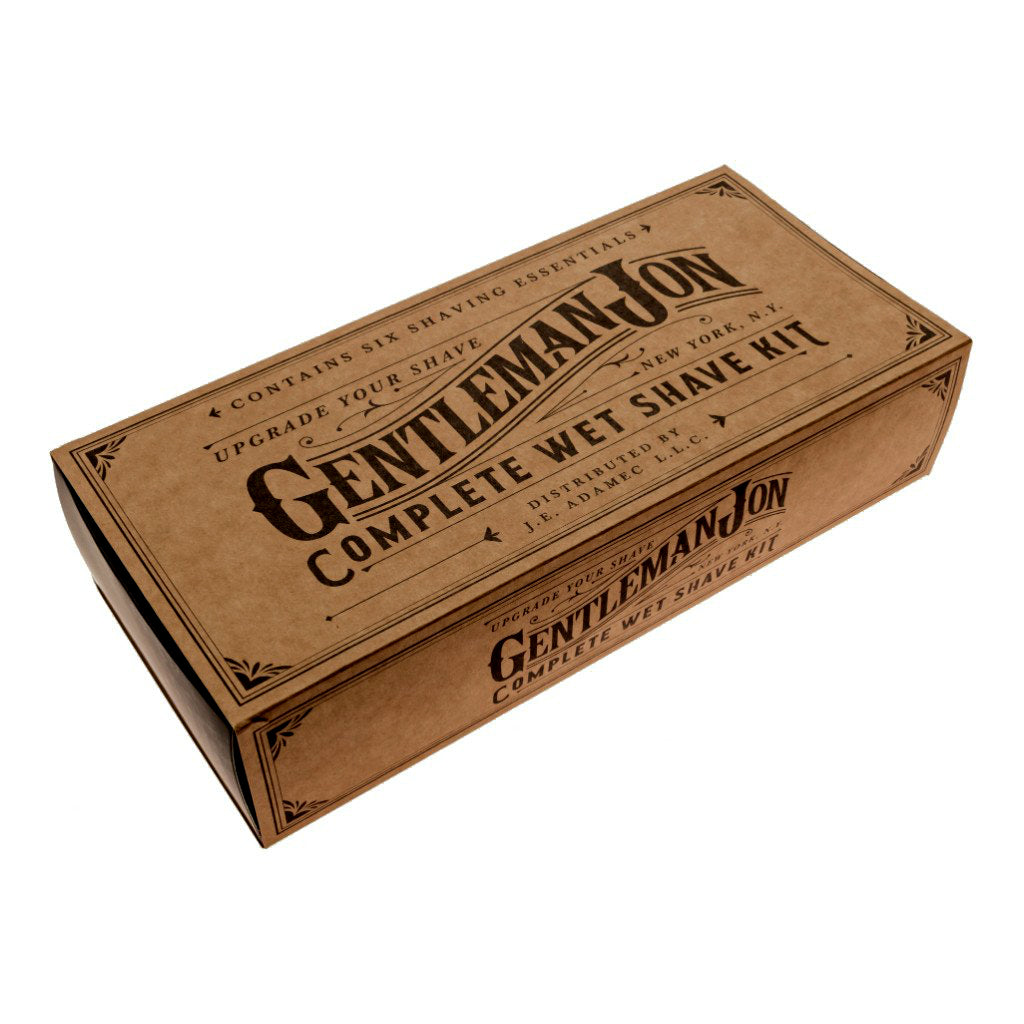 gentleman jon complete wet shave kit box