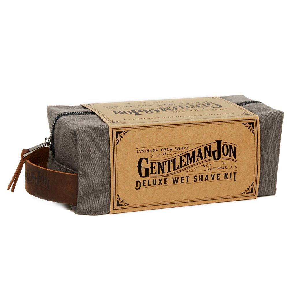 gentleman jon deluxe wet shave kit travel package