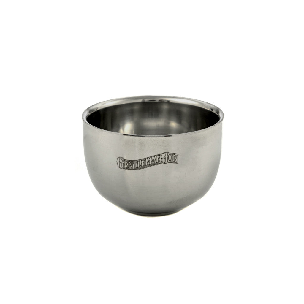 gentleman jon stainless steel shave bowl