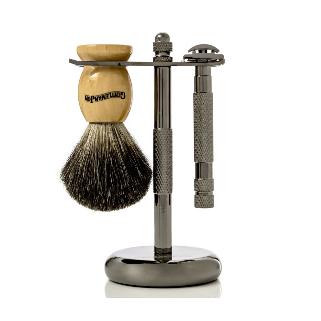 Gentleman Jon Safety Razor And Brush Stand
