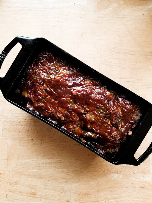 Zesty Meat Loaf with Honey Hot Sauce