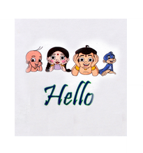 Load image into Gallery viewer, Chhota Bheem - Hello Group - White