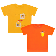 Load image into Gallery viewer, Chhota Bheem 2Pack Premium  Kids T-Shirt -  Phone Window & Pocket (Yellow & Orange)