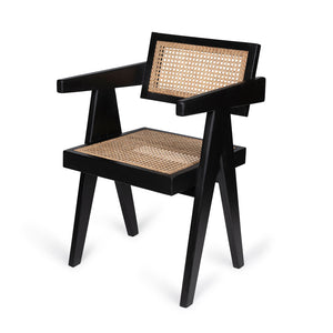 Officechair Pierre Houtskool zwart
