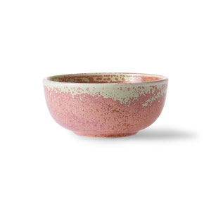 Home chef ceramics: bowl rustic pink