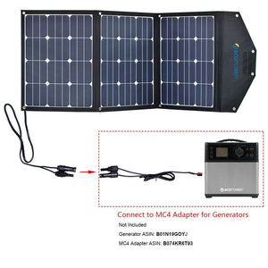 ACOPOWER LTK 120W Foldable Solar Panel Kit