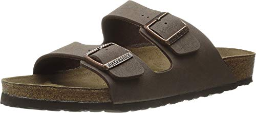 Birkenstock Arizona - Birkibuc (Unisex) Mocha Birkibuc 38 (US Men's 5-5.5, US Women's 7-7.5) Regular