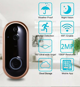 Smart WIFI Doorbell Intercom 1080P Video Ring Door Bell With Camera IR