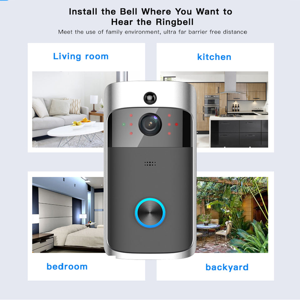 Remote Monitoring Doorbell WIFI Smart Visible