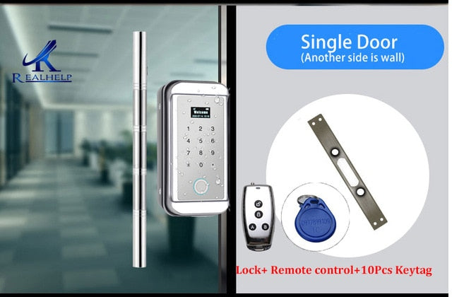 Waterproof  Digital Door Lock Keyless Biometric Pin Code Lock for Home Office