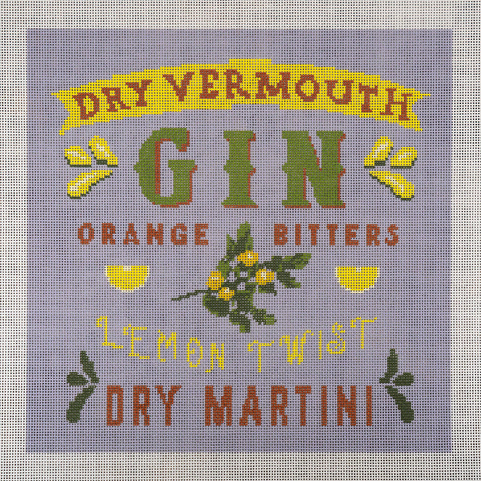 Needlepoint Canvas - Gin Martini with Twist
