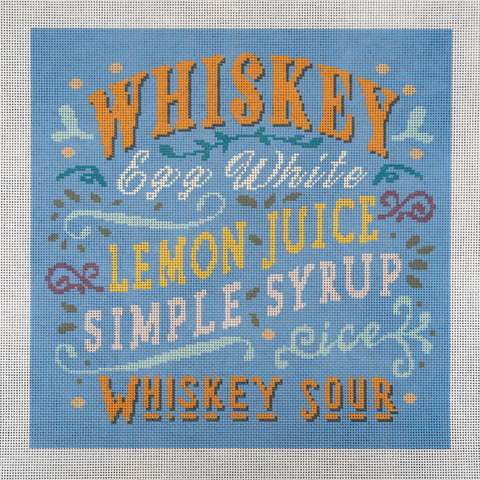 Needlepoint Canvas - Whiskey Sour