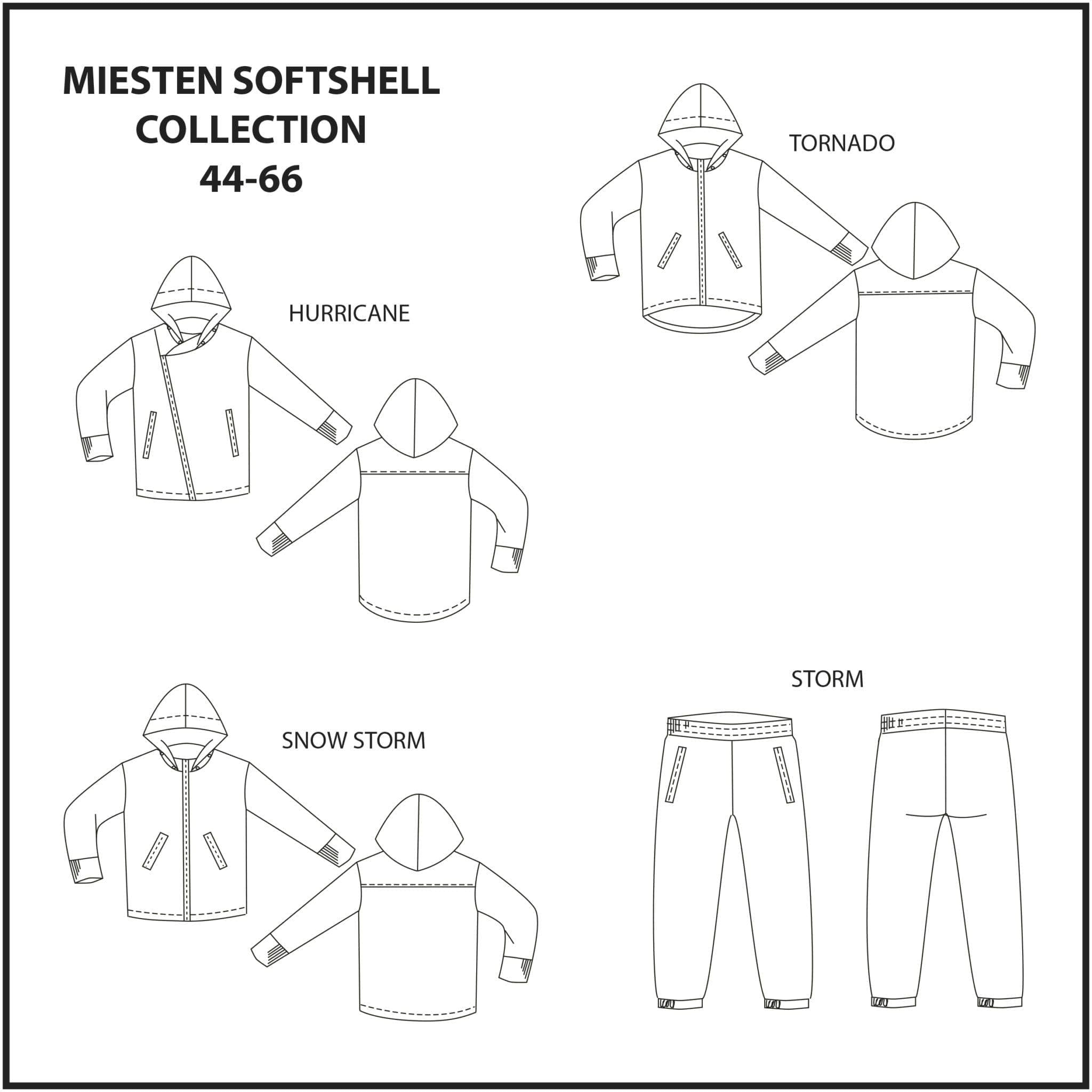 Miesten Softshell Collection 44-66