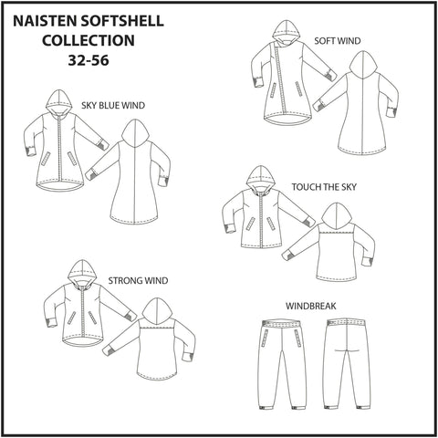 Naisten Softshell Collection 32-56