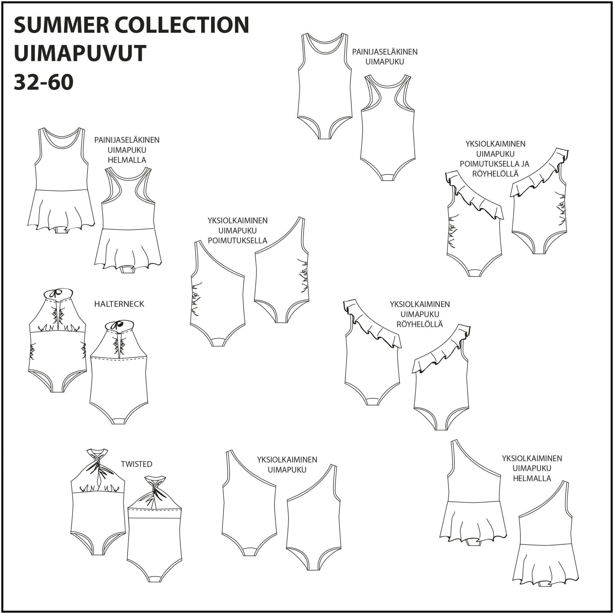 Summer Collection Uimapuvut 32-56