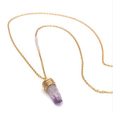 Amethyst Long Crystal Necklace